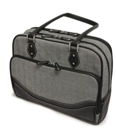 Classic Herringbone Laptop Tote-20231