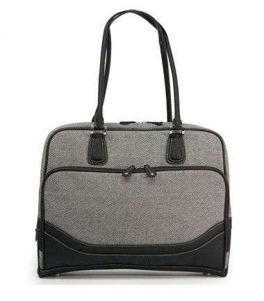 Classic Herringbone Laptop Tote (Large)-20218
