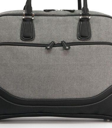 Classic Herringbone Laptop Tote-20227