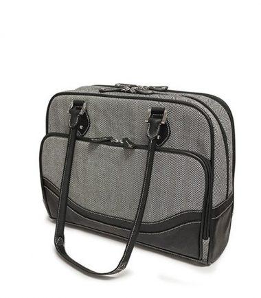 Classic Herringbone Laptop Tote-20230