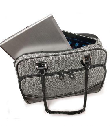 Classic Herringbone Laptop Tote-22675