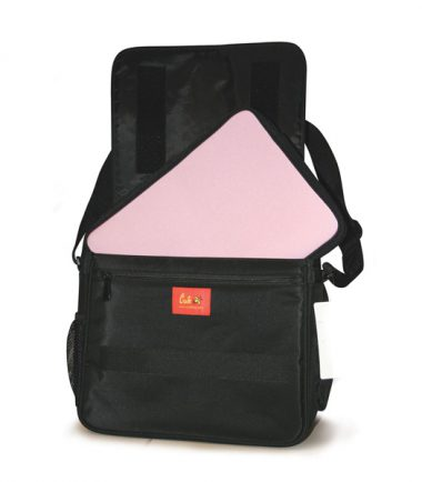 Maddie Powers Pink Sheba Retro Laptop Messenger Bag - Padded shoulder strap
