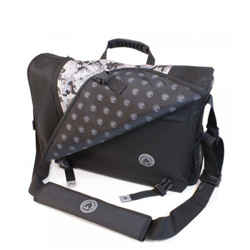 Sumo Messenger Bag - Black / Silver-0