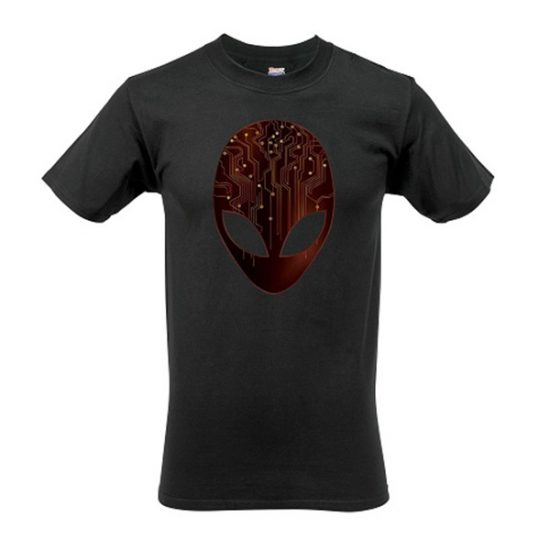 Alienware Arena Red Circuitry Gaming Gear T-shirt-0