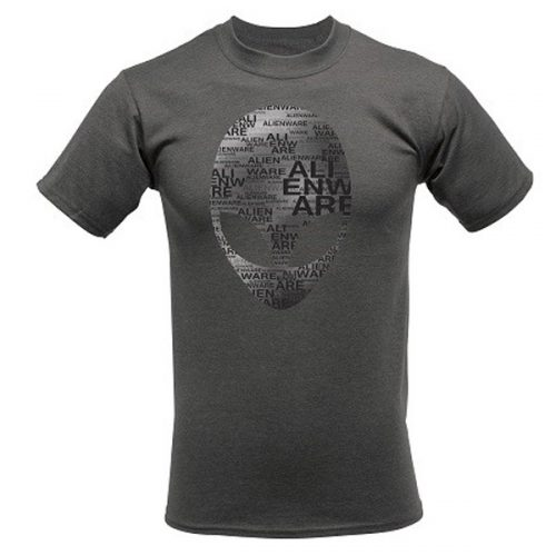 Alienware Arena Grey Heather Alien Font Gaming Gear T-shirt - Size L-0