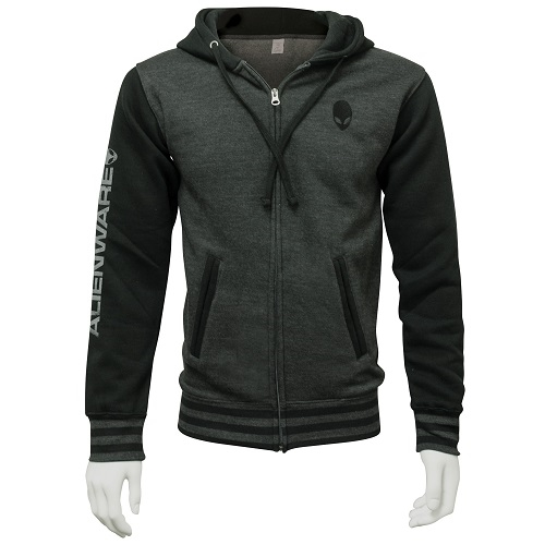 Alienware Varsity Zip Hoodie – Gunmetal/Charcoal Medium-0