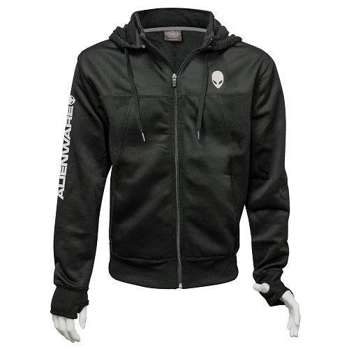 Alienware Poly-Tech Zip Hoodie – Black Small-0