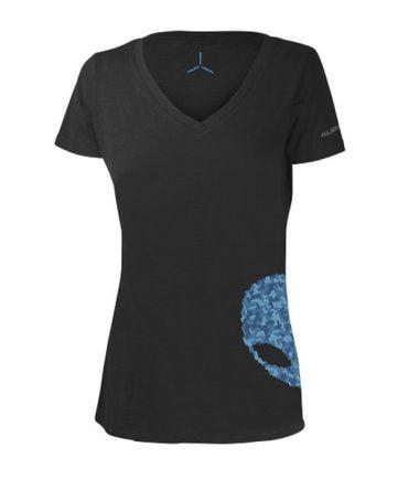 Women's Alienware Ultramodern Alien Puzzle Head Gaming Gear tri-blend T-shirt-0