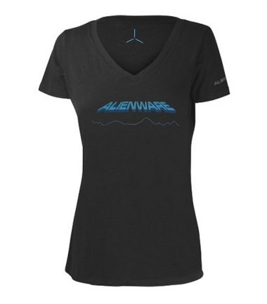 Women's Alienware Space-Age Alienware Font Gaming Gear tri-blend T-shirt-0