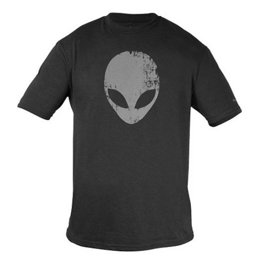 Alienware Distressed Head Gaming Gear tri-blend T-shirt-0
