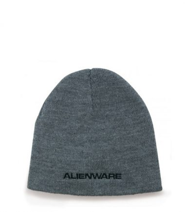 Alienware Beanie Knit Cap - Heather Gray-21576