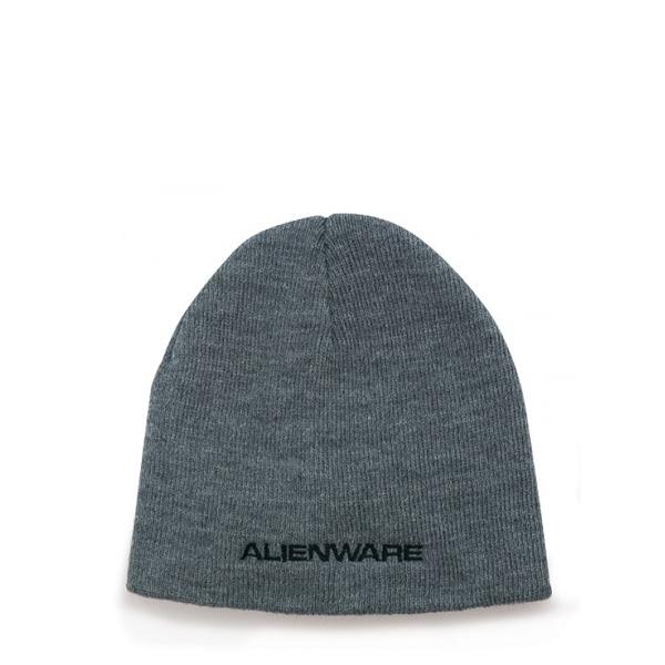 Alienware Beanie Knit Cap - Heather Gray-0