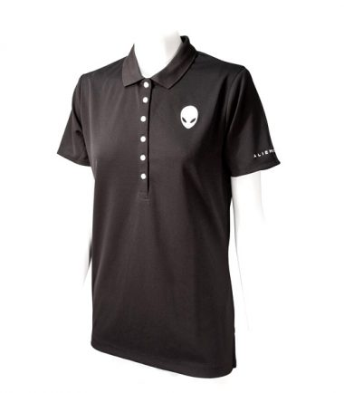 Women's Alienware Polo Shirt - Black-21587
