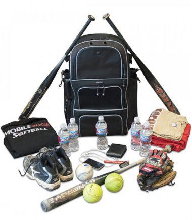 Deluxe Baseball / Softball Gear Bag - Black / Royal Blue -21493