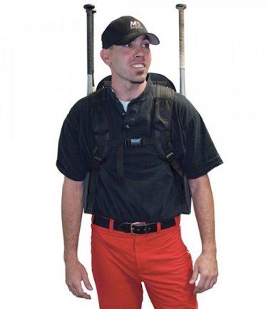 Deluxe Baseball / Softball Gear Bag - Black / Orange