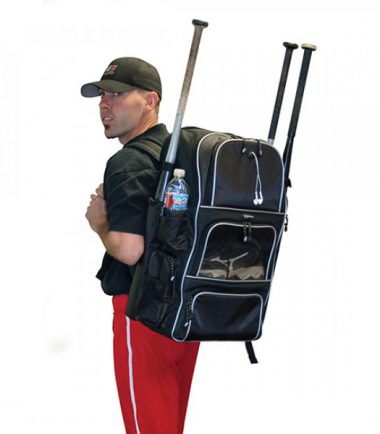 Deluxe Baseball / Softball Gear Bag - Black / Royal Blue