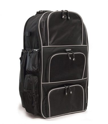 Deluxe Baseball / Softball Gear Bag - Black / Silver