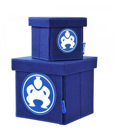 "Folding Desktop Cubes - 4"" Blue-0"