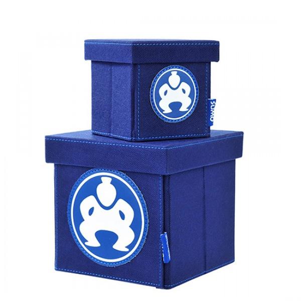"Folding Desktop Cubes - 4"" Blue-0"