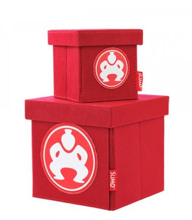 "Folding Desktop Cubes - 4"" Red-0"