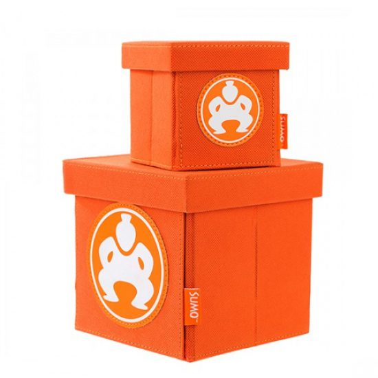 "Folding Desktop Cubes - 4"" Orange-0"