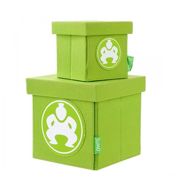 """Folding Desktop Cubes - 4"""" Green-0"""