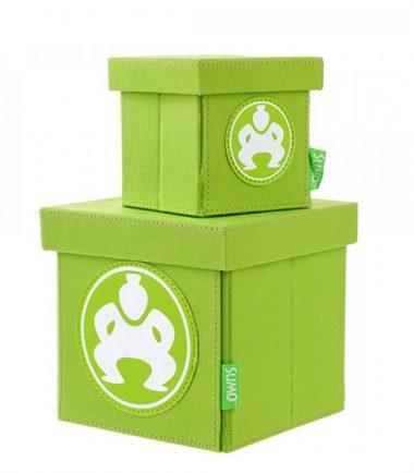 """Folding Desktop Cubes - 6"""" Green-0"""