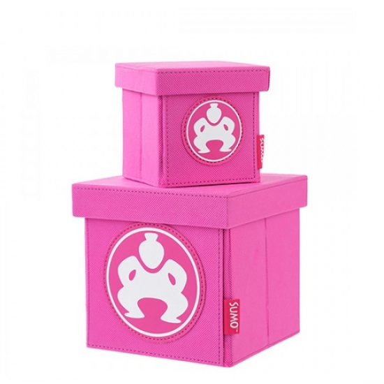 "Folding Desktop Cubes - 4"" Pink-0"