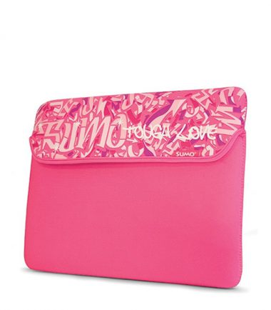 Sumo Graffiti Sleeve - 15 inch (Laptop Bag) - Pink
