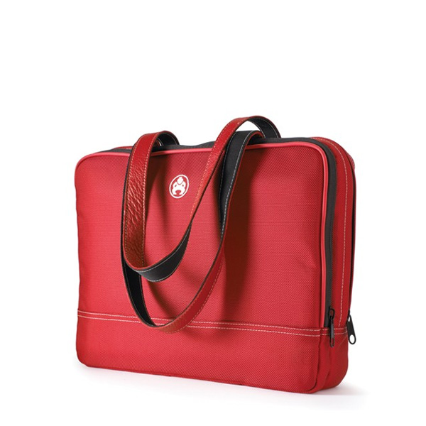 "Women's Two Pocket Laptop Case - 12"" Red-0"