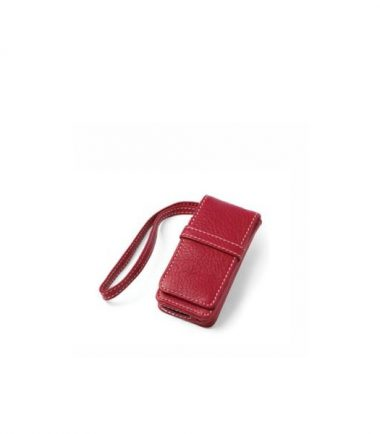 iPod Nano Leather Flip Case - Red-0