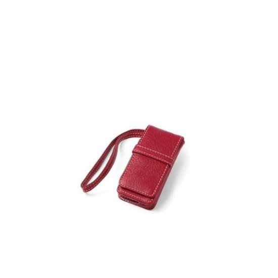 iPod Nano Leather Flip Case - Red-0