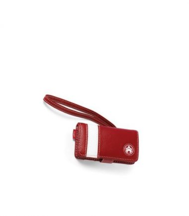 iPod Nano Leather Stripe Case - Red-0