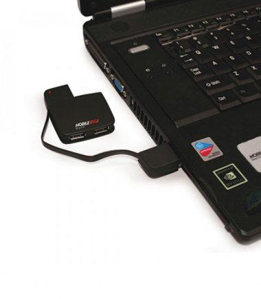 Slim-Line 4-Port USB 2.0 Hub - Integrated USB Cable