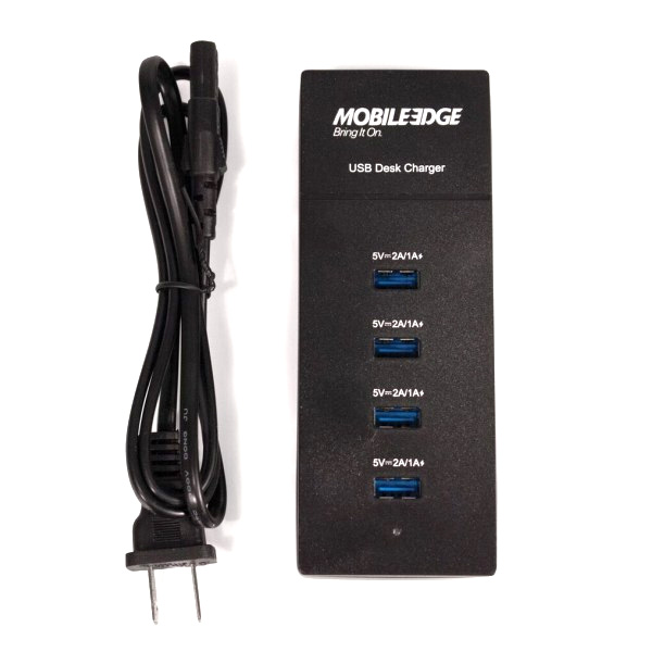 Universal 4-Port 6A USB Desktop Smart Charger with Reversible USB Ports-0
