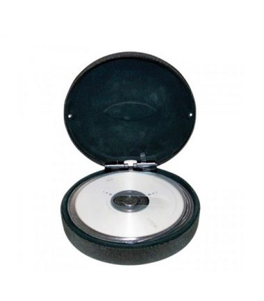Lighted Steel 22-CD/DVD Travel Case (Black) - LEDs illuminate when case is opened