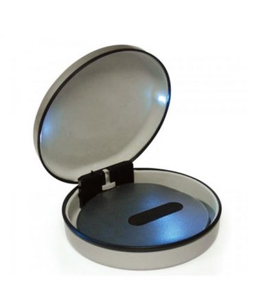Lighted Steel 22-CD/DVD Travel Case (Silver) - LEDs illuminate when case is opened