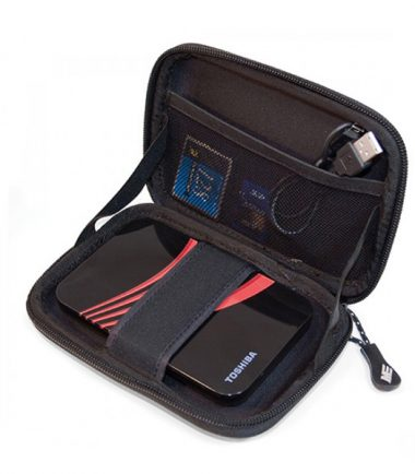 Portable Hard Drive / GPS Carrying Case (Black / Red)