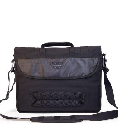 MECME1 - Eco-Friendly Laptop Messenger (Black) - Full-Size Back Pocket