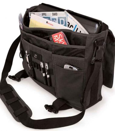 MECME5 - Eco-Friendly Laptop Messenger (Ash) - Multiple Interior Pockets for Organization