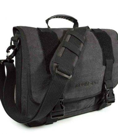 MECME5 - Eco-Friendly Laptop Messenger (Ash) - Padded Shoulder Strap for Maximum Comfort
