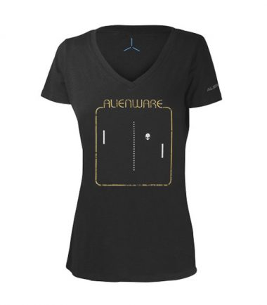 Women's Alienware Retrograde Alien Head Gaming Gear tri-blend T-shirt-0