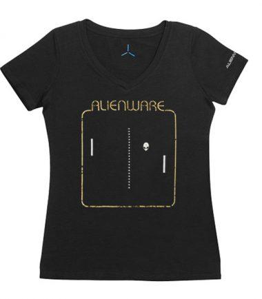 Women's Alienware Retrograde Alien Head Gaming Gear tri-blend T-shirt-22427