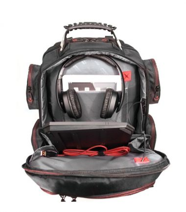 Core Gaming Backpack plus Large Gaming Mat, CORE Power AC USB - 27,000mAh Laptop Charger and Wireless Gaming Headset-22749