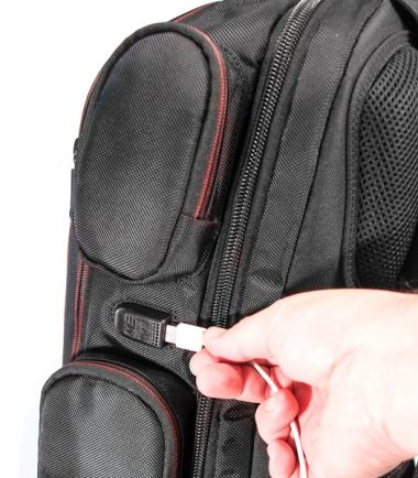 """Core Gaming Backpack w/Velcro Panel 17.3""""-22872"""