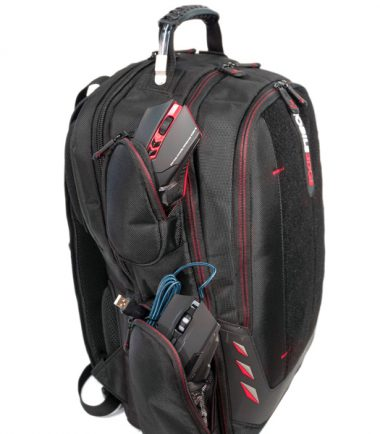"Core Gaming Backpack w/Velcro Panel 17.3""-22873"