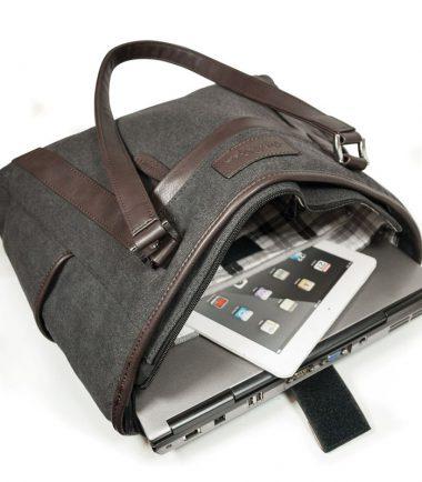 Urban Laptop Tote with Black Trim METMS51