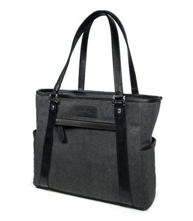 Urban Laptop Tote with Black Trim METMS51