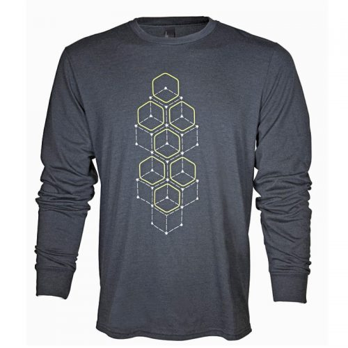 AWSLSDS Alienware Dot Hex Long Sleeve T- Shirt Small