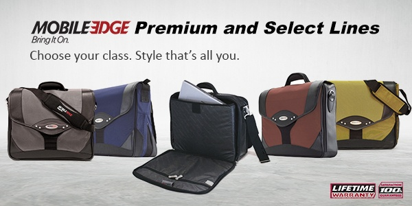 Say Hello to Mobile Edge's Select & Premium Briefcases and Messenger Bags